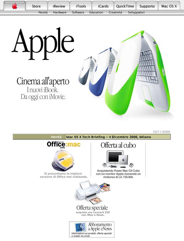 L'home page del sito Apple italiano