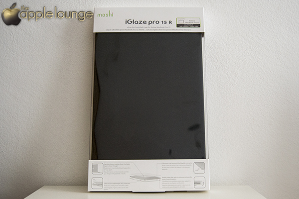 moshi iGlaze pro 15 R, cover per MacBook Pro 15 Retina Display (confezione fronte) - TheAppleLounge.com