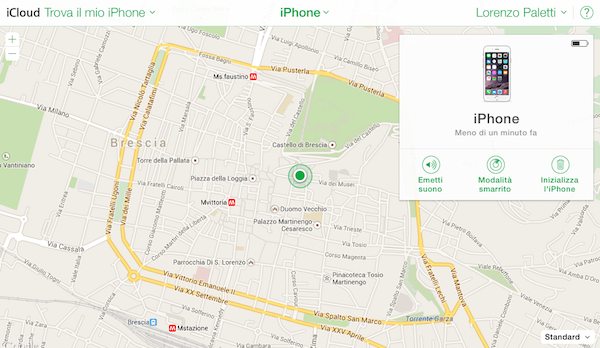 Find my iPhone guida cartina