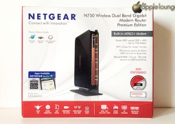 NETGEAR DGND4000 Modem Router Wireless N750 Dual Band, immagine frontale confezione - TheAppleLounge.com