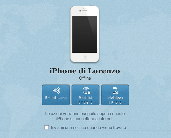 iPhone offline