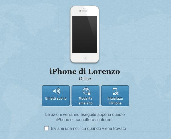 iPhone offline