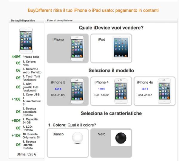 buydifferent ritiro iphone ipad