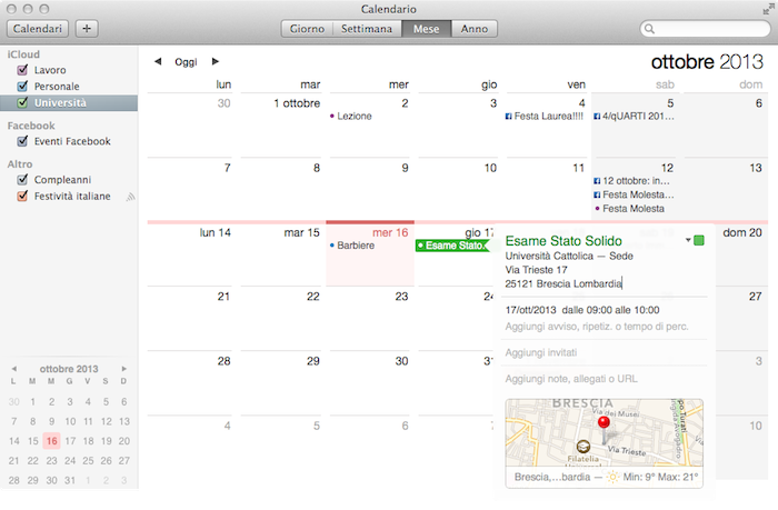 Calendario Mavericks