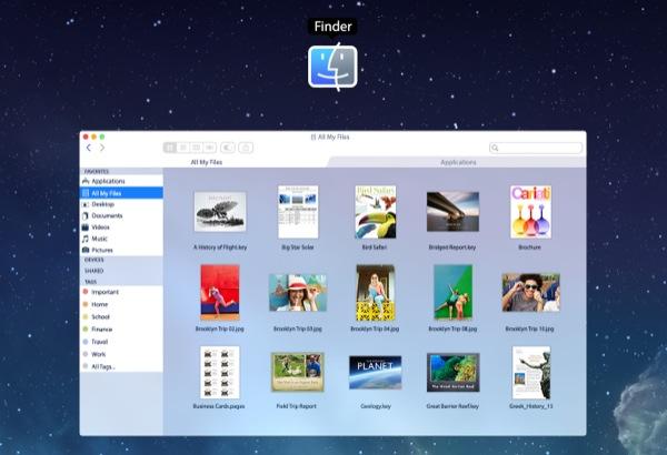 OS X iOS 7 Finder