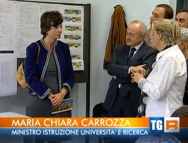 Il Ministro Carrozza in visita al Liceo Lussana di Bergamo.