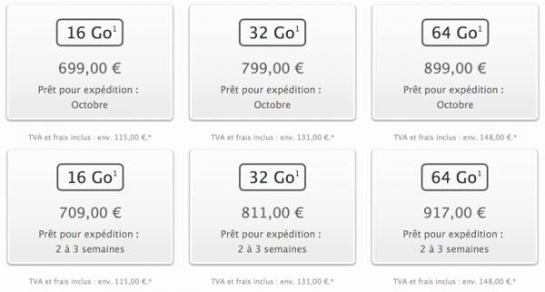 Prezzi Francia