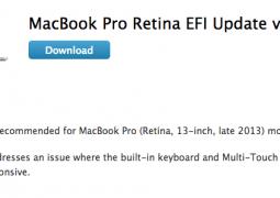 macbook pro aggiornamenti efi