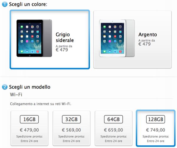 iPad Air 24 ore
