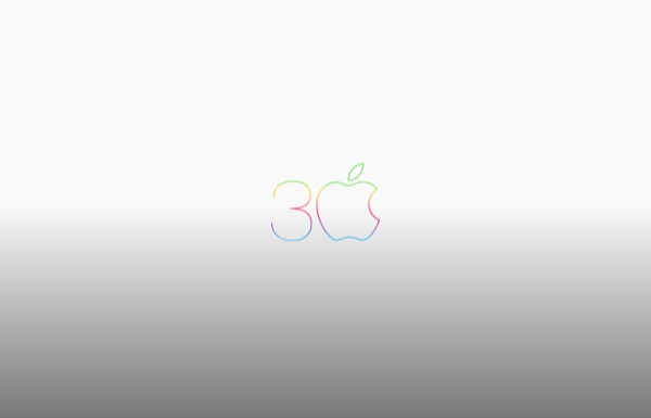 5 apple-30th-anniversary-mac-logo-grey-wallpaper