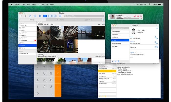 Un concept di OS X ispirato al look di iOS 7 - Credits: Stu Does Design