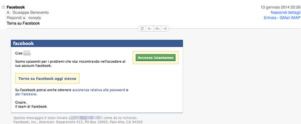 Qualcuno si è registrato a Facebook col mio indirizzo e-mail e... (Torna su facebook) - TheAppleLounge.com
