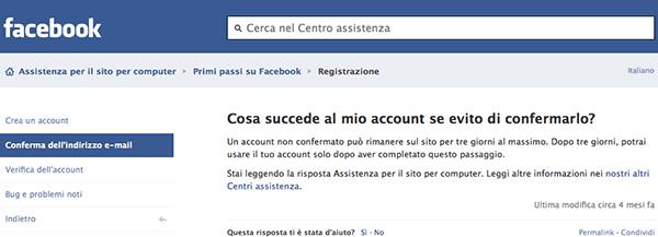 Qualcuno si è registrato a Facebook col mio indirizzo e-mail e... (cosa succede al mio account se evito di confermarlo) - TheAppleLounge.com