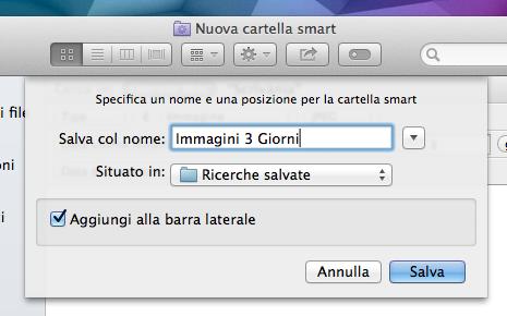Finder Cartella Smart Salvataggio