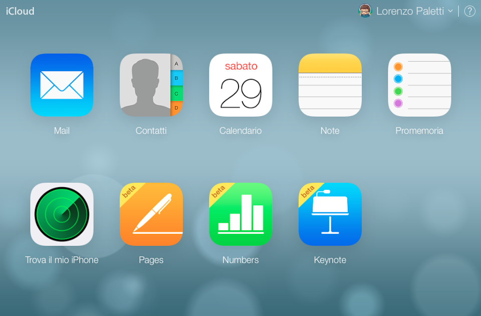 Panoramica iCloud schermata