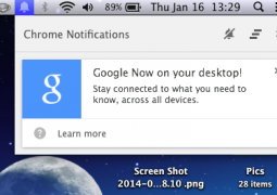 google now notifiche chrome