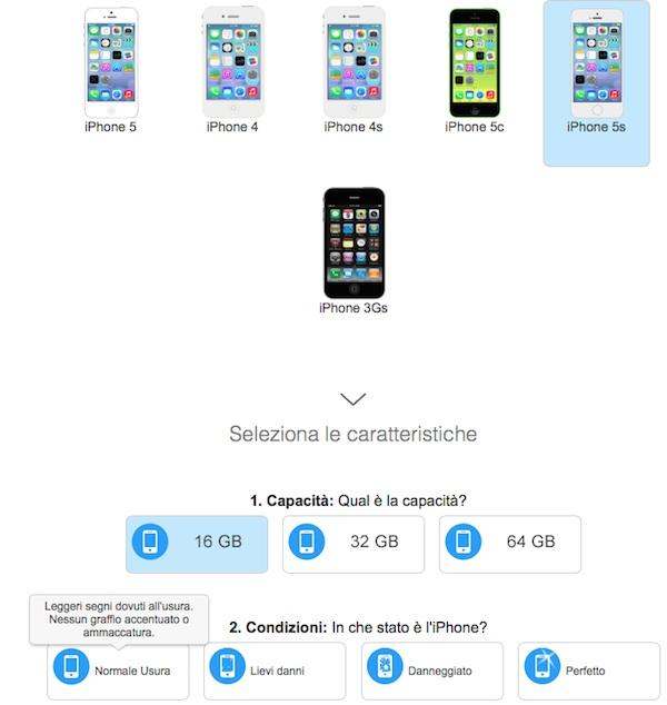 ritiro iphone usato