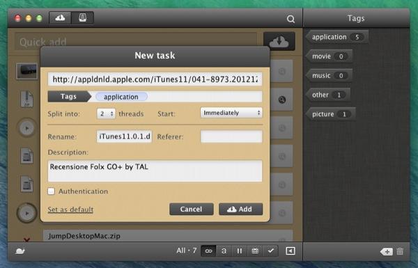Folx GO+ recensione TAL downloader Mac_1