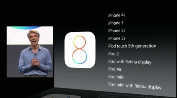 iOS 8 compatibilità