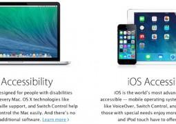 apple accessibilità ciechi