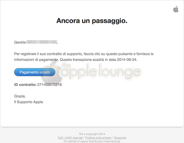 AppleCare+, disponibile un sistema di pagamento sicuro 01 - TheAppleLounge.com