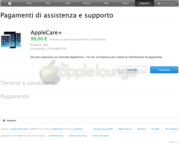 AppleCare+, disponibile un sistema di pagamento sicuro 02 - TheAppleLounge.com
