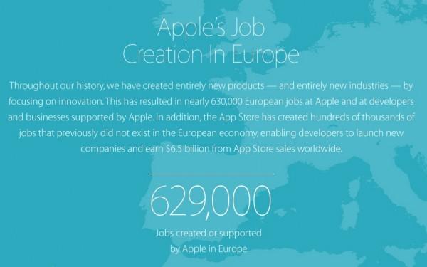 posti di lavoro apple