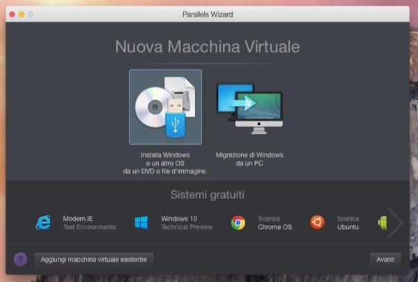 Parallels Desktop 10 Mac recensione TAL OS X Yosemite Windows 10_7