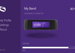 Immagine di Microsoft Band, dispositivo indossabile per il fitness.