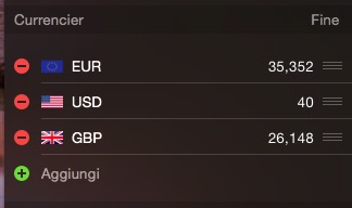 Currencier widget Centro Notifiche OS X Yosemite recensione TAL 3