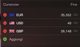 Currencier widget Centro Notifiche OS X Yosemite recensione TAL 3