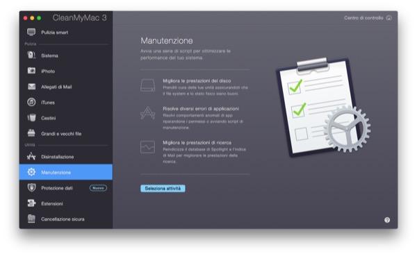 CleanMyMac 3 recensione TAL pulizia manutenzione Mac OS X Yosemite 12
