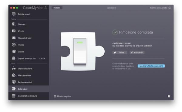 CleanMyMac 3 recensione TAL pulizia manutenzione Mac OS X Yosemite 27