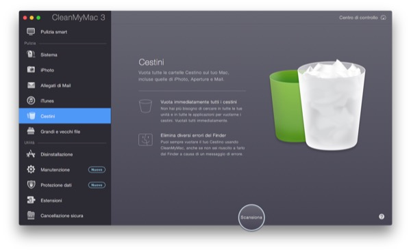 CleanMyMac 3 recensione TAL pulizia manutenzione Mac OS X Yosemite 9