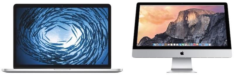 "MacBook Pro 15"" iMac 27"" rinnovo Apple"