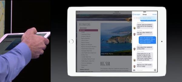 Slide-over: una app ne copre momentaneamente un'altra.