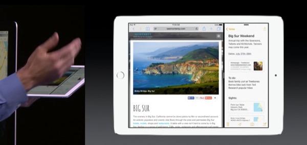 Split-view: due app funzionano contemporaneamente sul display