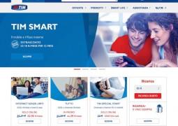 Screenshot del nuovo sito Internet tim.it