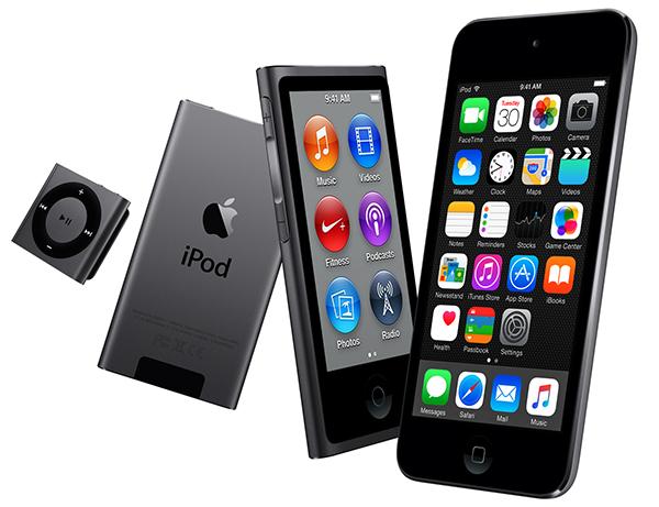 nuovi iPod touch nano shuffle