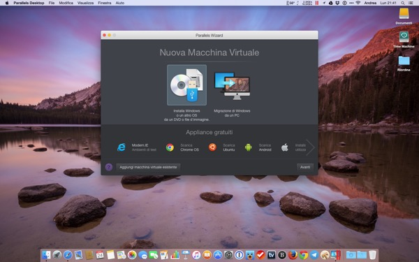 Parallels Desktop 11 Mac recensione TheAppleLounge Windows 10 OS X El Capitan 10