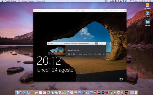 Parallels Desktop 11 Mac recensione TheAppleLounge Windows 10 OS X El Capitan 2