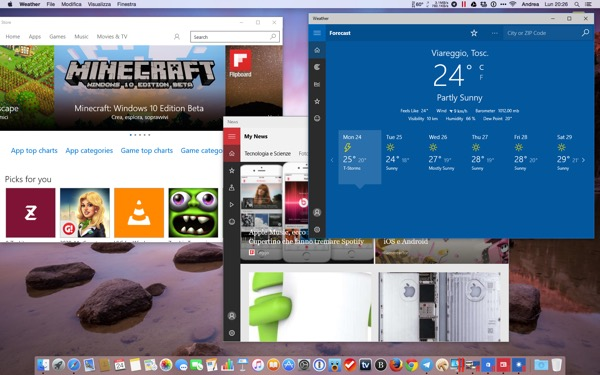 Parallels Desktop 11 Mac recensione TheAppleLounge Windows 10 OS X El Capitan 6