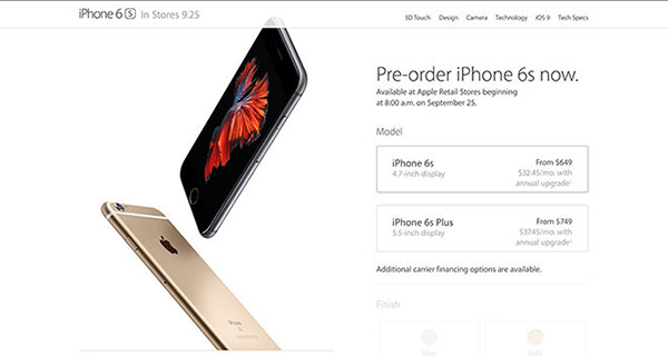 iphone 6s pre-order
