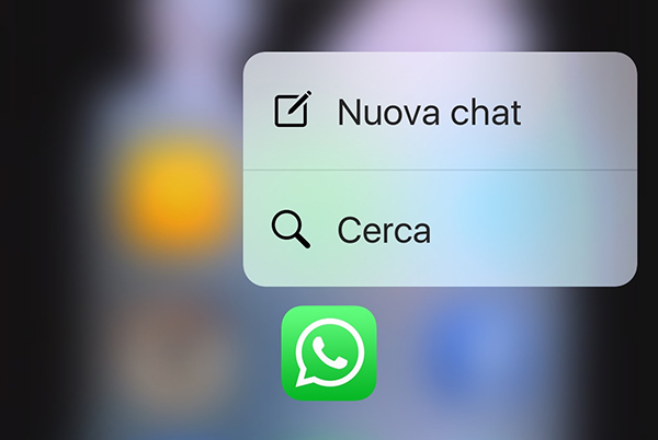3D Touch Whatsapp