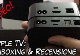 Apple TV video recensione unboxing videorecensione