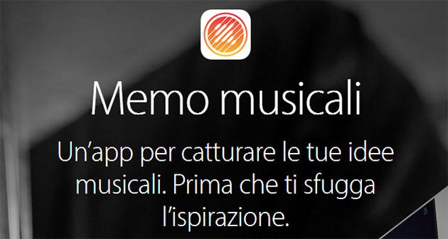 app memo musicali evidenza