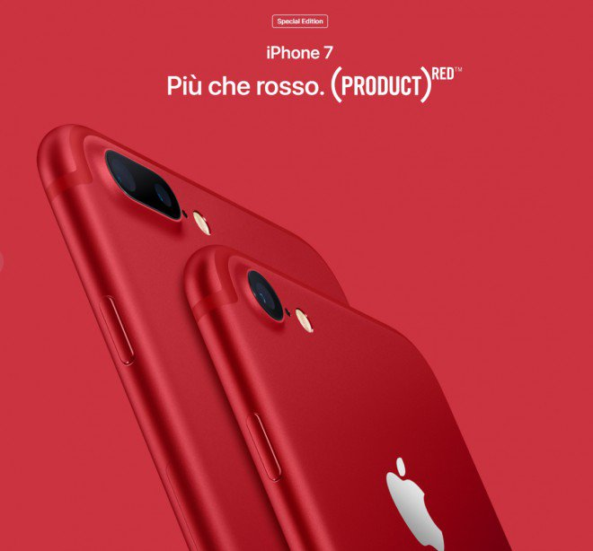 IPhone si tinge di rosso: arriva iPhone RED Special Edition
