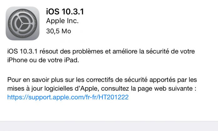 Disponibile iOS 10.3.1