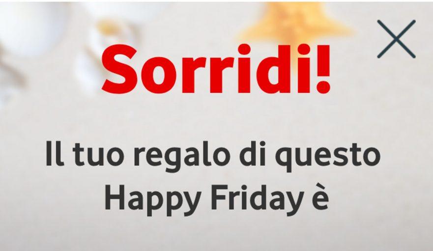 Omaggio Mondadori Store con Vodafone Happy Friday per Natale